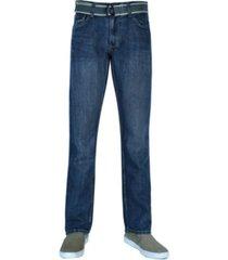 flypaper men's straight leg belted jeans