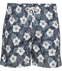 hibiscus bathing trunks shorts casual blå morris