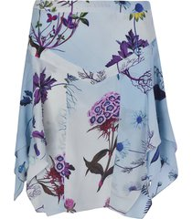 stella mccartney floral printed asymmetric skirt