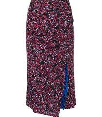 dvf diane von furstenberg dariella reversible mesh fitted skirt - red