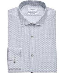 calvin klein gray print regular fit dress shirt
