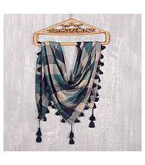 viscose blend scarf, 'delhi charm' (india)