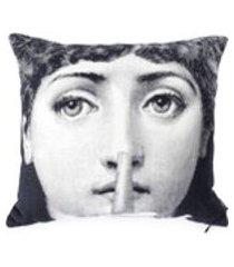 fornasetti travesseiro 'silence' - branco
