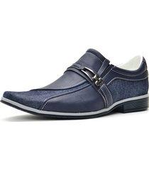 4e08a1483f sapato casual social em jeans sintético sapatofran conforto leve lançamento  azul