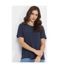 camiseta forum basic viscose feminina
