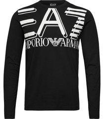 t-shirt t-shirts long-sleeved svart ea7