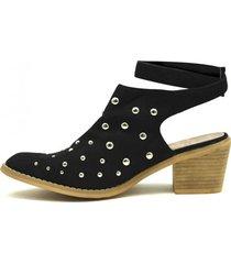 zapato puntilla negro gotta
