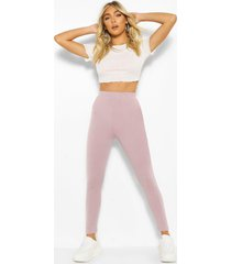 basic high waist ankle grazer legging, fawn