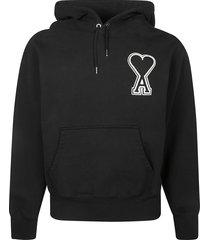 ami alexandre mattiussi heart patch hoodie