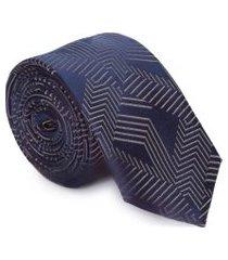 gravata seda 7090l6 - azul