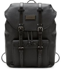logo leather backpack