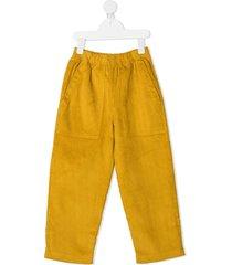 raspberry plum rafa corduroy trousers - yellow