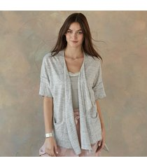 knit hi low cardigan sweater