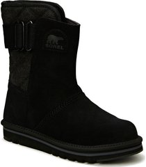 newbie shoes boots ankle boots ankle boots flat heel svart sorel