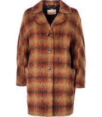 """checked"" coat"