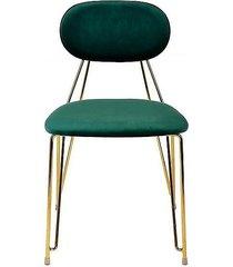 krzesło welurowe molia zielone