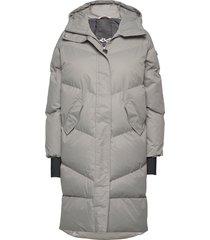 city trek jacket gevoerde lange jas grijs röhnisch