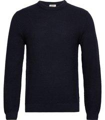 sweaters stickad tröja m. rund krage blå edc by esprit