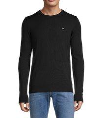 j. lindeberg men's lyle merino wool sweater - navy - size s