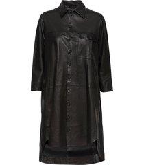 chili thin leather dress kort klänning svart mdk / munderingskompagniet