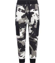 dolce & gabbana camouflage print cotton jogging pants