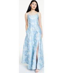 nightway floral brocade gown