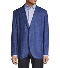 standard-fit wool, silk & linen-blend blazer