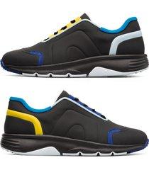 camper twins, sneaker uomo, nero/blu/giallo, misura 46 (eu), k100488-002