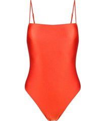 mc2 saint barth stretch-jersey swimsuit - orange