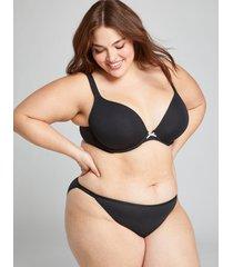 lane bryant women's cotton double string bikini panty 18/20 black