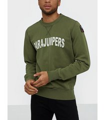 parajumpers pjs m caleb cotton fleece tröjor military