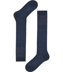 calzedonia tall egyptian cotton socks man blue size 10m