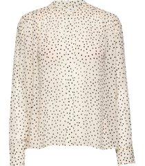 elmy shirt aop 9695 blus långärmad svart samsøe samsøe