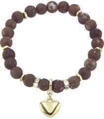 bracciale in metallo dorato e pietre per donna