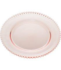 sousplat cristal pearl rosa 32cm