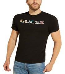 guess men's scenic logo t-shirt