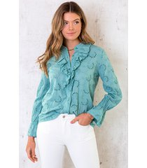 katoenen embroidery blouse oase