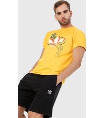 camiseta amarillo-verde adidas performance streetball triofolio