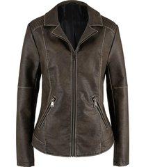 giacca in similpelle (marrone) - john baner jeanswear