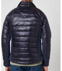 canada goose men's hybridge lite hooded jacket - navy - xl