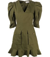 alexander mcqueen military mini dress - green