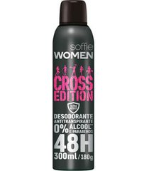 desodorante aerosol soffie cross edition women feminino 300ml