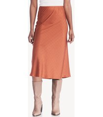 moon river women's fitted midi skirt pumpskin xs pumpkin size extra small from sole society