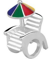 berloque de prata cadeira de praia moments