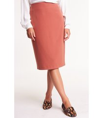 elegancka spódnica w kolorze kasztanowym