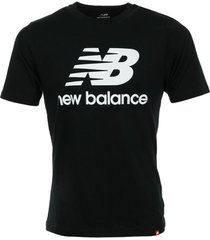 t-shirt korte mouw new balance essentials stacked logo tee
