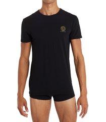 men's versace medusa head logo 2-pack undershirts, size 4 - black