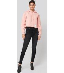 calvin klein high rise skinny ankle denim jeans - black