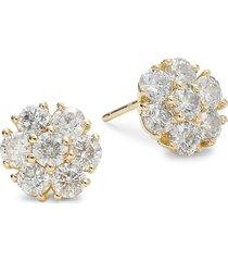diana m jewels women's 18k yellow gold & 2.5 tcw diamond stud earrings