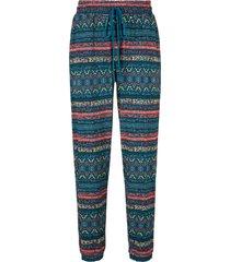 pantaloni in jersey fantasia (petrolio) - bpc bonprix collection